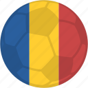 flag, football, sport, romania, contest