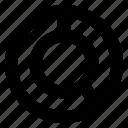 analytics, chart, diagram, donut, pie chart icon