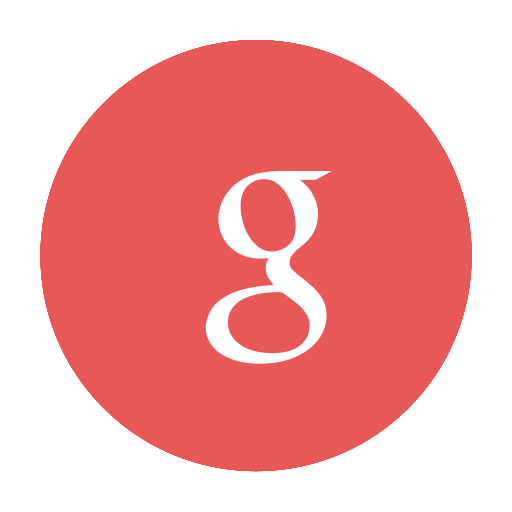 google, g, modern, red, circular icon