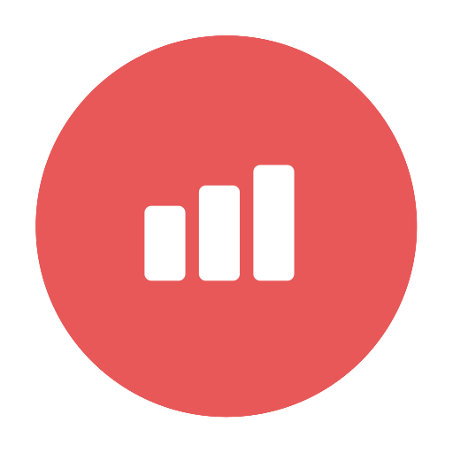 chart, figures, graph, modern, progress, red, success icon