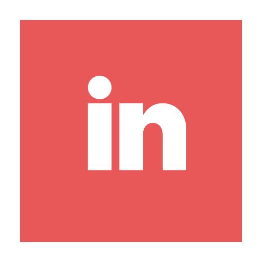 circular, in, linkedin, ln, modern icon