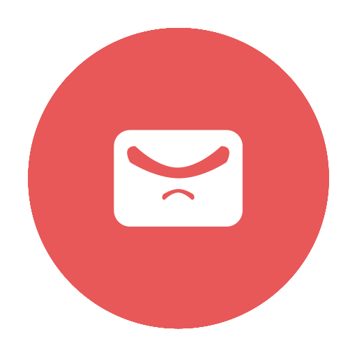 circular, email, gmail, hotmail, mail, modern, red icon