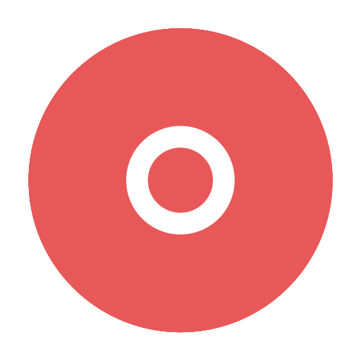 circular, modern, o, orkut, red icon