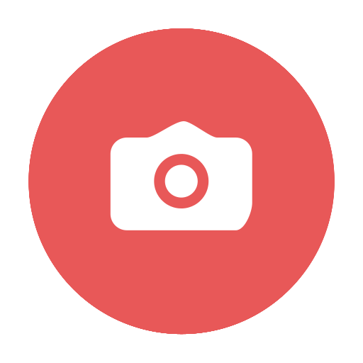circular, gif, image, jpg, modern, photo, picture, png, red, scenery, snap icon