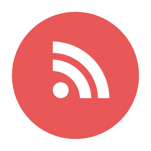 circular, modern, round, rss icon