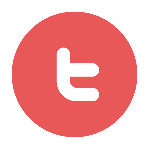 circular, modern, tw, twitter icon