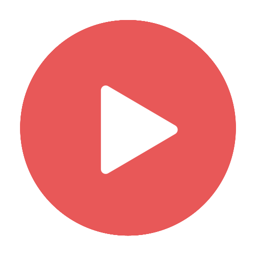 modern, play, red, stream, video, videos icon