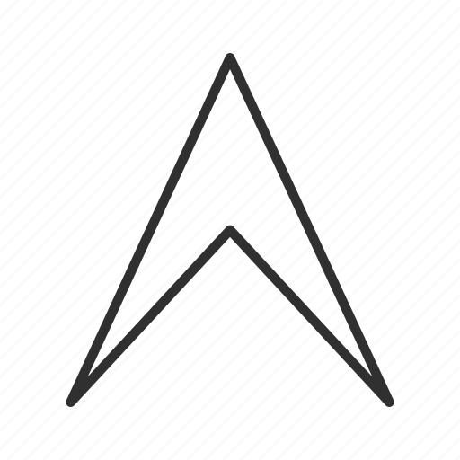 arrow, bearing, compass, north, think block arrow, up, upload icon