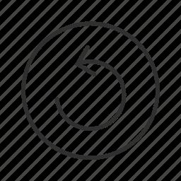 arrow, cycle, loading, processing, revision, thin line circle arrow, undo icon