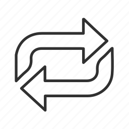 arrow, cycle, infinite loop, process, processing, think block arrow icon