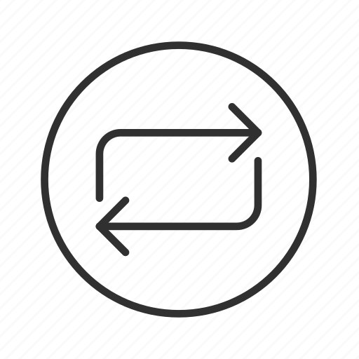 arrow, cycle, infinite loop, process, processing, thin line circle arrow icon