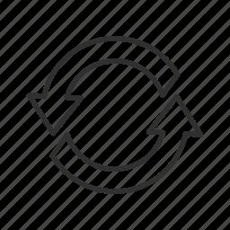 arrow, cycle, infinite loop, process, processing, thin block arrow icon