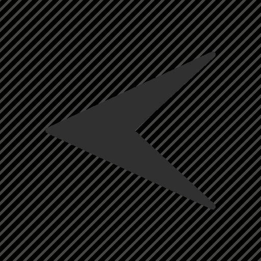 arrow head, arrow left, navigation, pointer icon