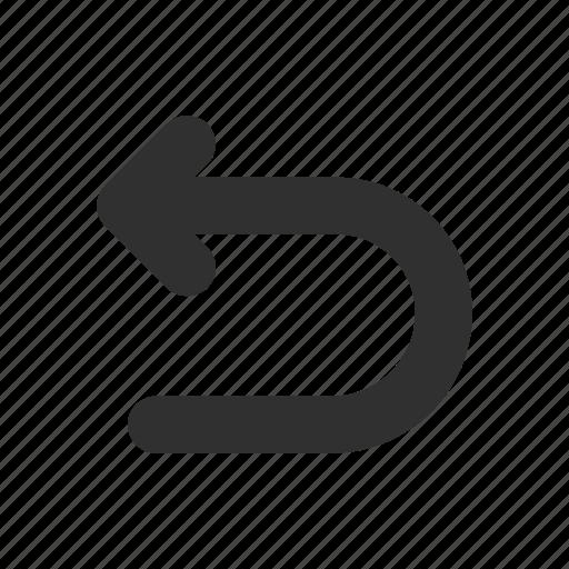 arrow, u turn, undo, upload icon