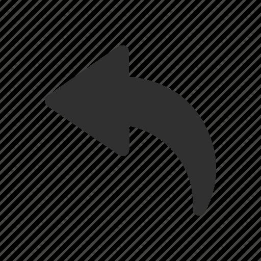 arrow left, navigate, pointer, share icon