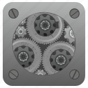 configuration, engine, gear, setting, tool icon