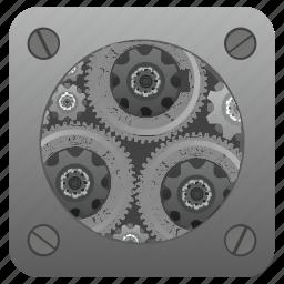 configuration, engine, gear, setting, tool icon