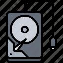 computer, drive, electronics, external, hard, microelectronics, repair icon
