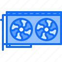 card, computer, electronics, microelectronics, repair, video icon