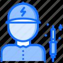 computer, electronics, iron, man, microelectronics, repair, soldering icon