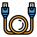 cable, connection, internet, intranet, lan icon