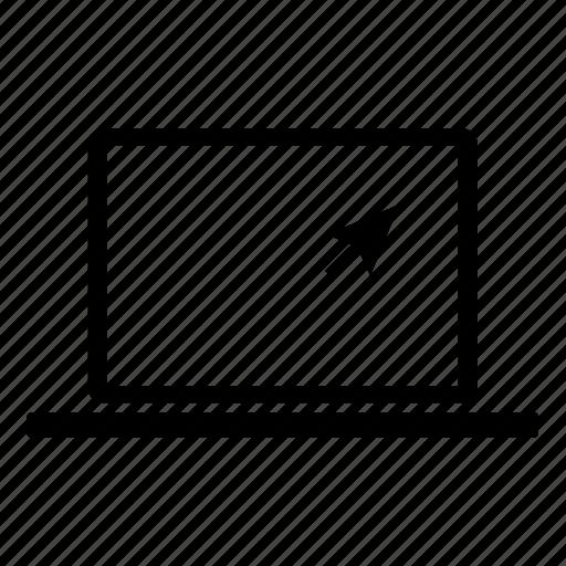 computer, cursor, laptop, mac, pointer, technology icon