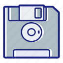 data, disk, diskette, floppy, floppy disk, save, storage icon