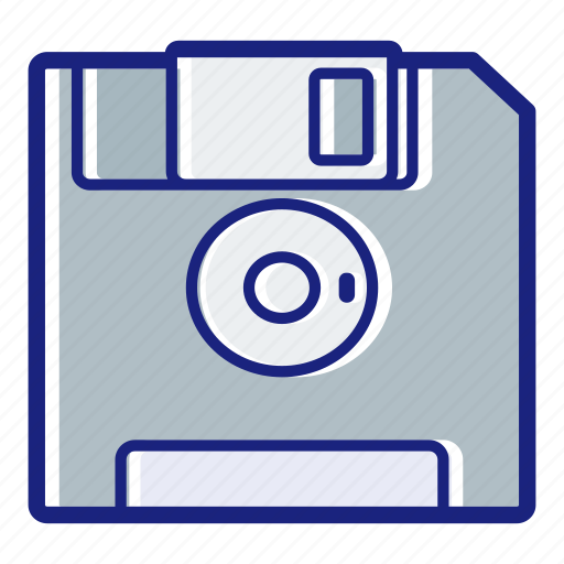 data, disk, diskette, floppy, floppy disk, save, storage icon