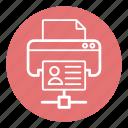 computer, facsimile machine, network printer, networking, printer, printer sharing, technology icon