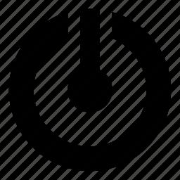 bulb, circle, idea, light, power icon
