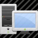 computer, desktop, monitor, pc, screen, tower case icon