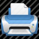 computer printer, document, page, printer, printing icon