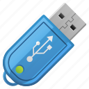 memory drive, memory stick, usb, usb drive, usb stick icon
