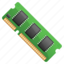 computer memory, computer part, dimm, hardware, memory card, memory stick, ram icon