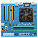 computer, computer part, hardware, motherboard, technology icon