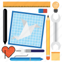 blueprint, computer, design, development, tool, tools icon