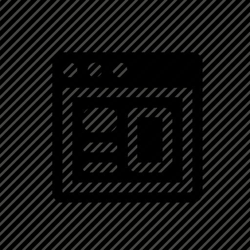 browser, computer, internet, news, window icon