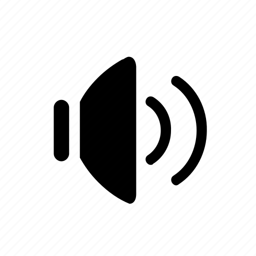 computer, mode, speaker, volume, volumeon icon