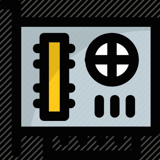 computer hardware, graphic card, graphics, vga, video card icon