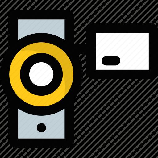 camcorder, camera, handycam, recording, video camera icon