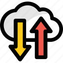 cloud computing, cloud hosting, cloud network, cloud storage, data storage icon