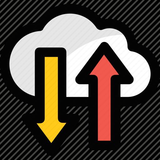 cloud computing, cloud hosting, cloud network, cloud storage, data storage icon