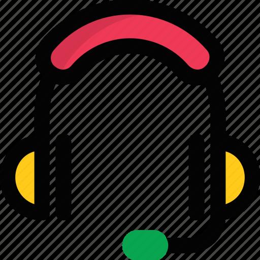 audio device, earphone, headphone, headphone with mic, headset, operator icon