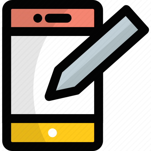 pda, pda mobile, pda phone, personal digital assistant, stylus phone icon