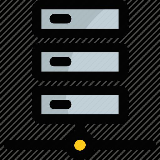 computer server, data center, database, network server, server rack icon