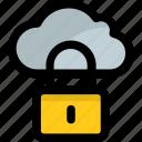 cloud and padlock, cloud computing padlock, cloud computing password, cloud computing protection concept, cloud security icon