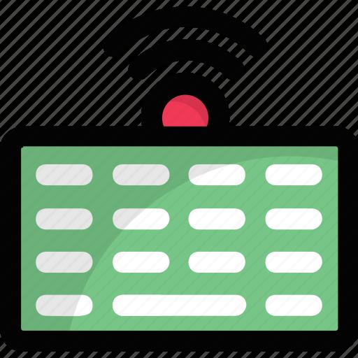 keyboard, keypad, primary input device, typing, wireless keyboard icon