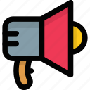 announcement tool, bullhorn, loudspeaker, megaphone, sound speaker icon