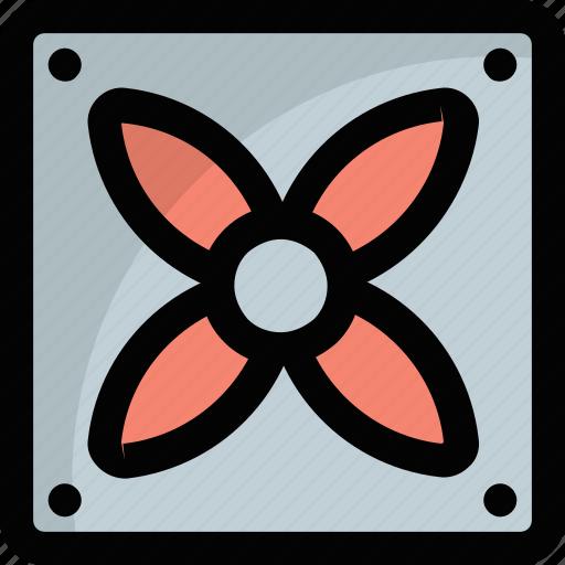 blower fan, computer fan, computer performance cooling fan, exhaust fan, hardware fan icon