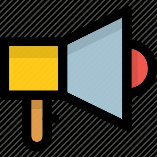 announcement tool, bullhorn, loudspeaker, megaphone, sound speaker icon